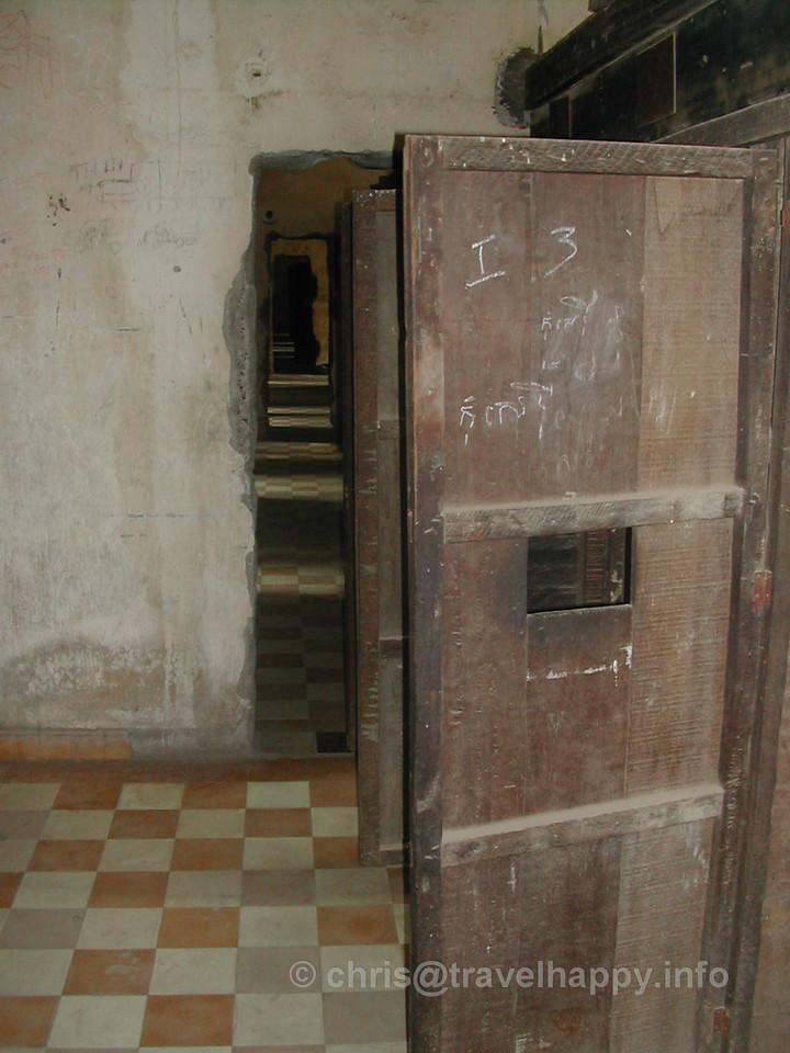 Prison cell doors, Tuol Sleng Genocide Museum, Phnom Penh