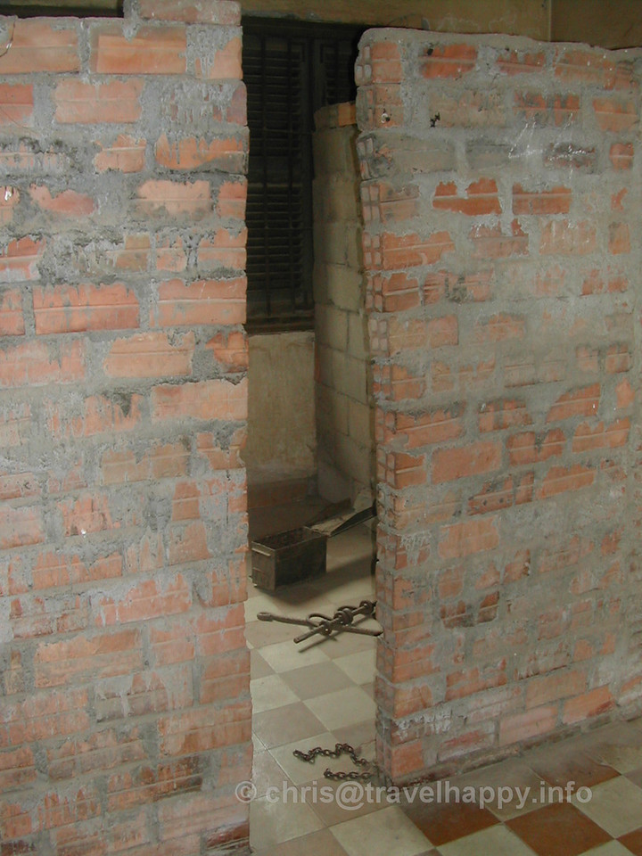 Prison cell, Tuol Sleng Genocide Museum, Phnom Penh