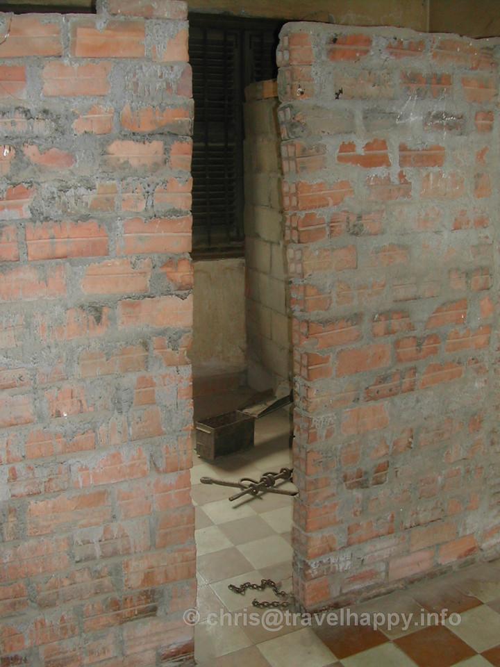 Prison cell, Tuol Sleng Genocide Museum, Phnom Penh