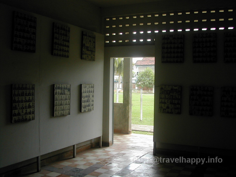 Photographs of some of the victims, taken on entry to S21. Tuol Sleng Genocide Museum, Phnom Penh