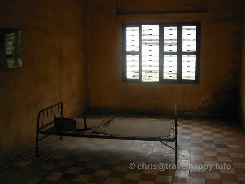 One of the torture rooms at Tuol Sleng Genocide Museum, Phnom Penh