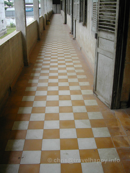 Corridor at Tuol Sleng Genocide Museum, Phnom Penh