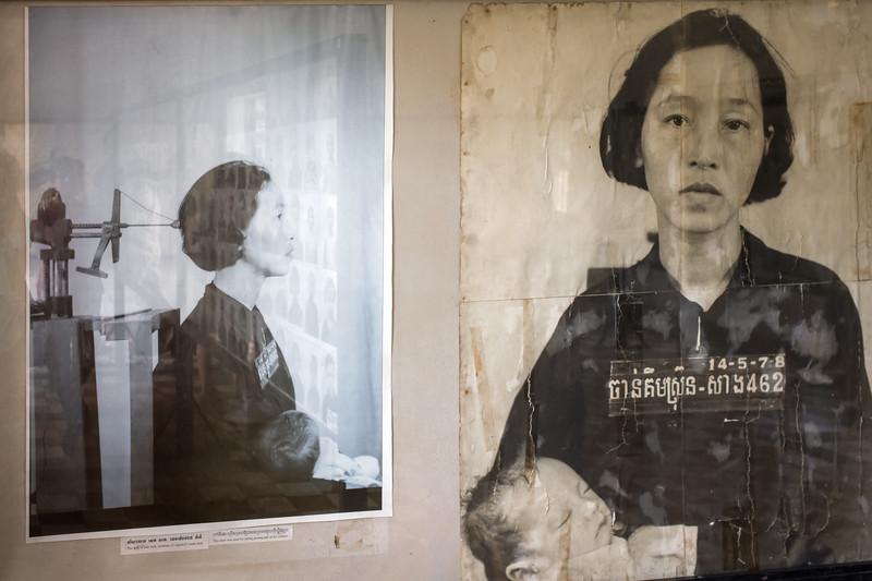 Chan Kim Srun, wife of Sek Sath. Arrested May 14th , 1978,.