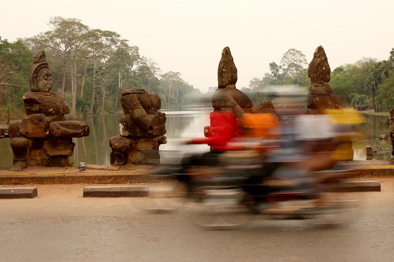 South Gate, Angkor Thom, Angkor Archaeological Park, Krong Siem Reap, Cambodia