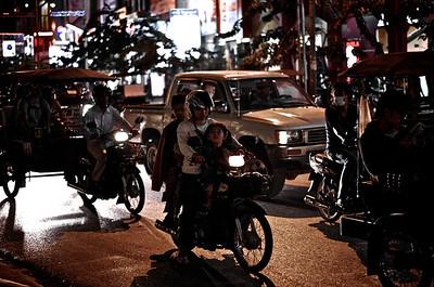 Sivatha Road at Night, Siem Reap