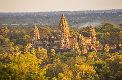 Angkor Wat during Sunset from Phnom Bakheng, Cambodia
