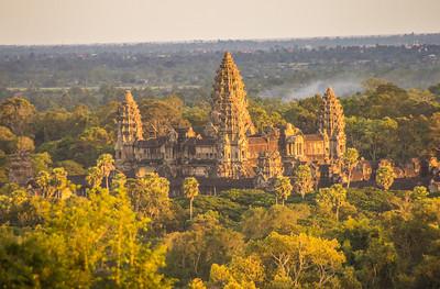 Angkor Wat during Sunset from Phnom Bakheng, Cambodia
