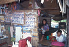 Barber shop in an area near Angor and Siem Reap under control of remnent Khmer Rouge
