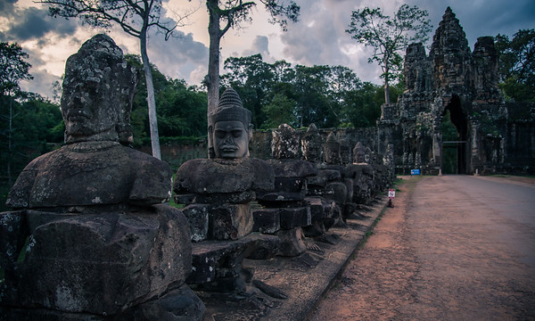 Most of these are statues are actually not that old.  They have been restored as the Khmer Rouge sold many of them to fund their genocide.