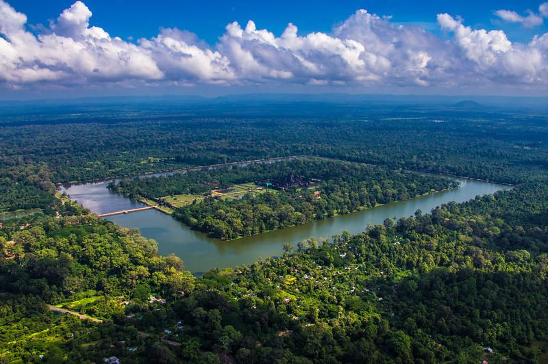 Angkor Wat from the Air, Cambodia