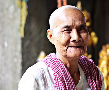 Female Monk at Angkor Wat