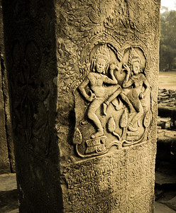 Apsara (dancer) carvings are at most of the temples