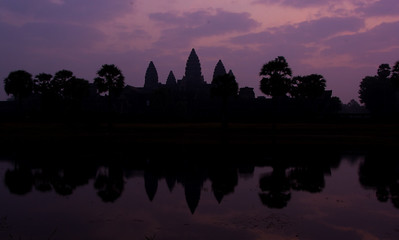 Sunrise at Angkor Wat (always ranked in the top 10 sunrises in the world)