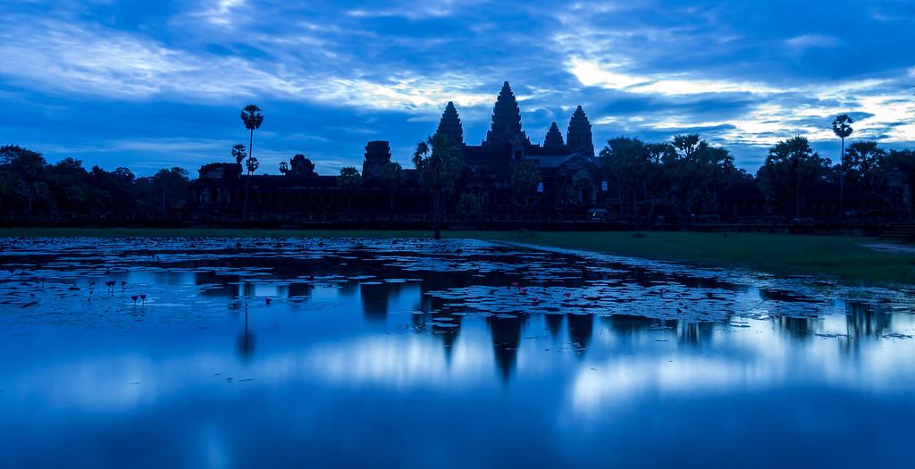 Twilight at Angkor Watt