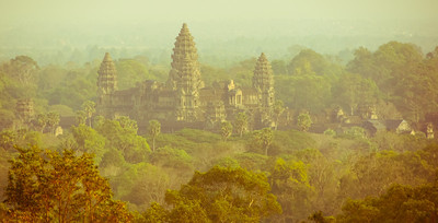 Angkor Wat from a nearby hilltop temple