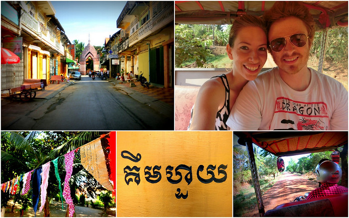 Visiting Battambang in Cambodia.