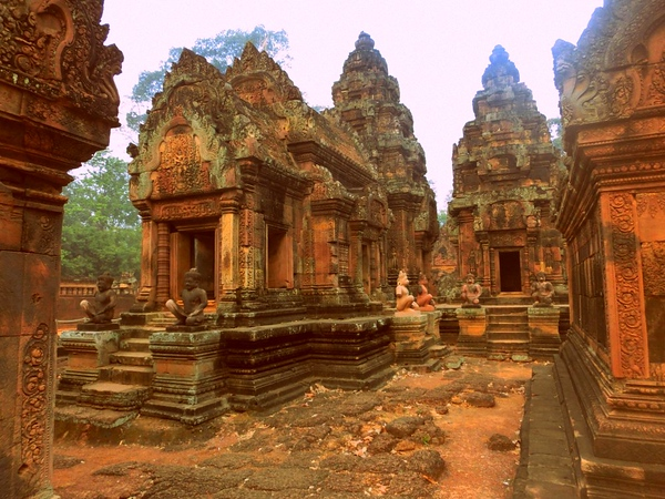 Banteay Srei, the pink sandstone temple, Cambodia