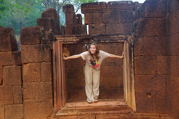 Visiting Banteay Srei, one of the temples of Angkor