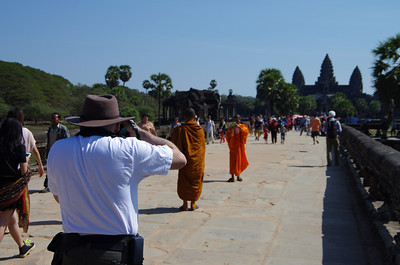 Daniel Photographs a Monk Photographing a Monk!