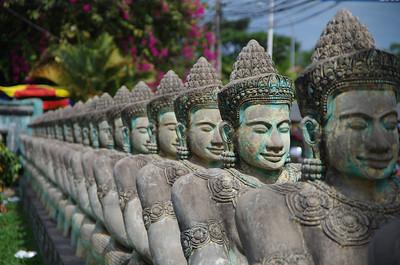 Statues Near Jayavarman VII Children's Hospital