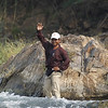 Shroit, boat driver for Ramsar site, Khone Falls