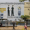 anti-meth manufacturing billboard, Stung Treng, Cambodia,