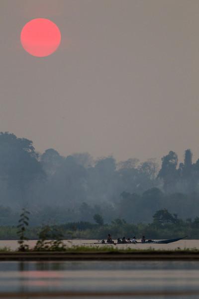 Mekong, sunset