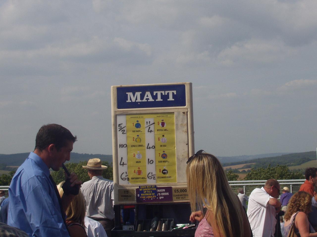 """""""Honest"""" Matt the Bookmaker"""