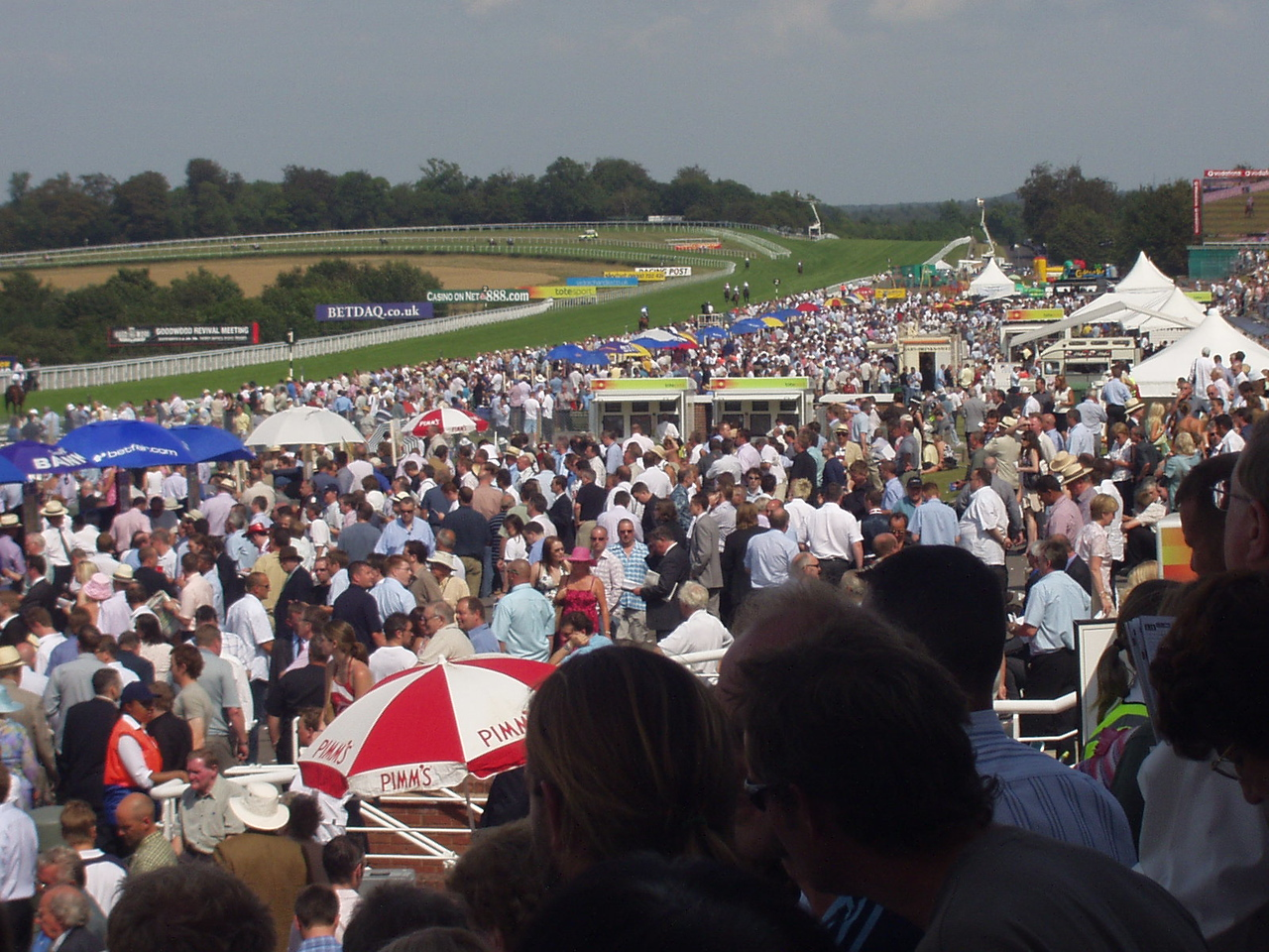 Crowds at the racecourse