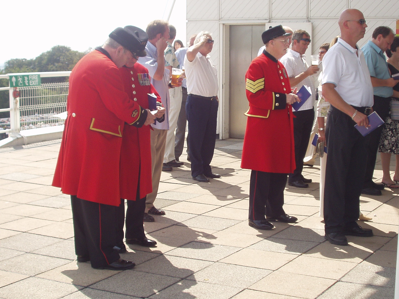 Chelsea pensioners at the Tote