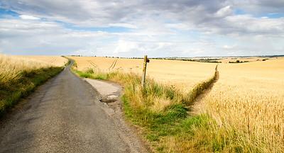 footpath through the fields