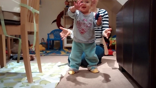 Sophie's early steps. She took her first steps about a fortnight ago.
