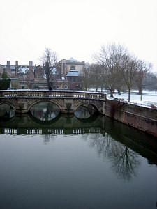 View from the Bridge of Sighs overlooking the Cam