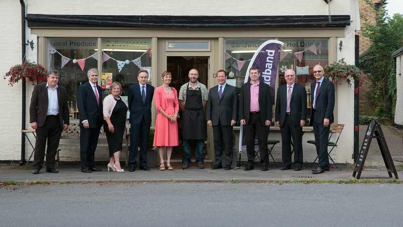 Visit of Ed Vaizey and VIPs to Spaldwick