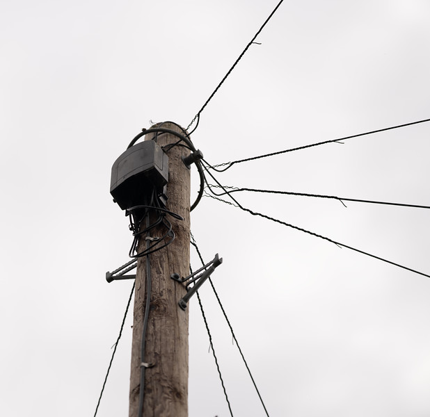 New pole installed in preparation for FTTP (8 July 2021)
