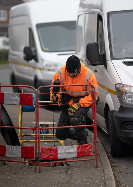Engineer Holding Connectorised Block - Ivy Way (2 Mar 2021)