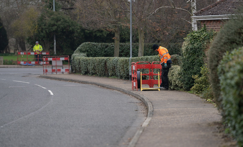 Fibre Cable is Pulled Through the Duct - Ivy Way (2 Mar 2021)