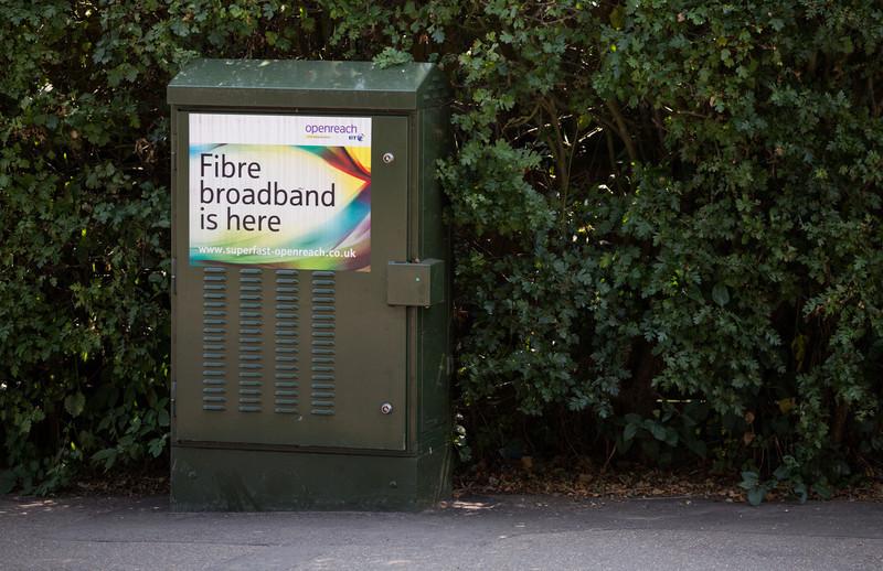 Fibre street cabinet in Brampton Cambridgeshire