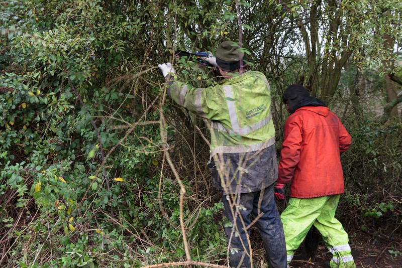Armed with a poor map, the engineers struggled to find the underground chambers. With a better map, they managed to find the two chambers hidden by deep undergrowth (8 November 2013). For more information, visit http://www.increasebroadbandspeed.co.uk/cambridgeshire