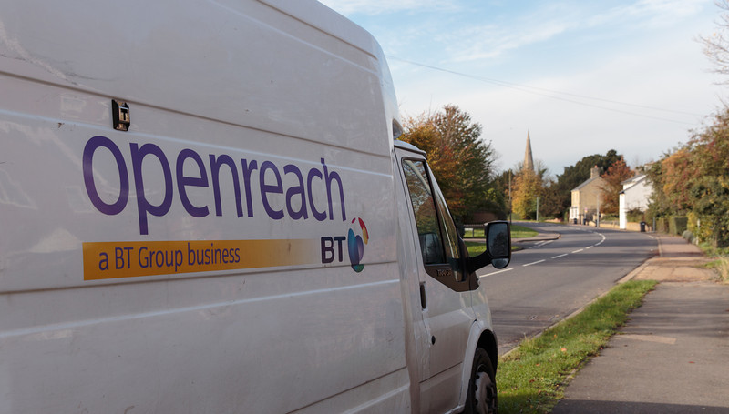 Two Openreach vans arrive (8 November 2013). For more information, visit http://www.increasebroadbandspeed.co.uk/cambridgeshire