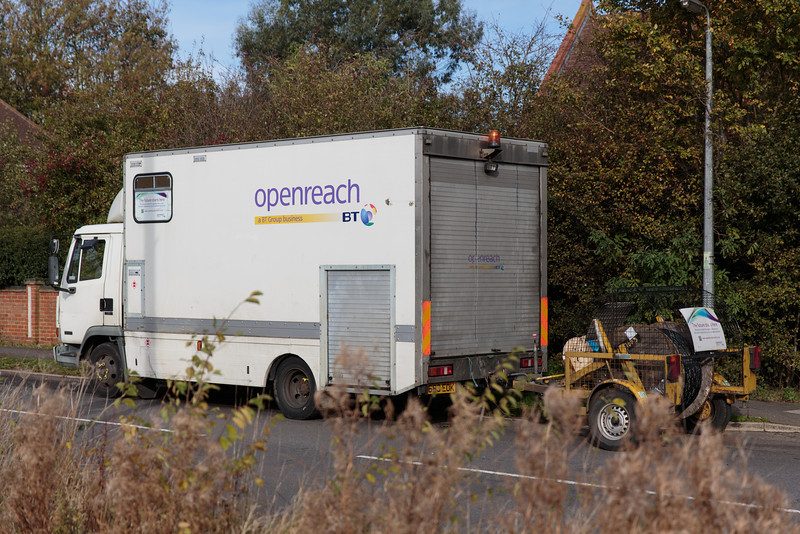 Two Openreach vans arrive (Fri 8 November 2013). For more information, visit http://www.increasebroadbandspeed.co.uk/cambridgeshire