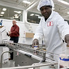 CamBrooke Therapeutics in Ayer is a company the creates food for people born with Phenylketonuria, better know as PKU. Employee Venel Danger packages their chocolate milk for shipping on Friday February 17, 2017. SUN/JOHN LOVE