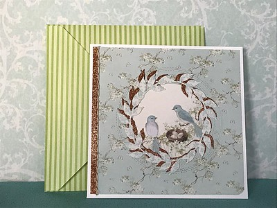 Birds and nest card