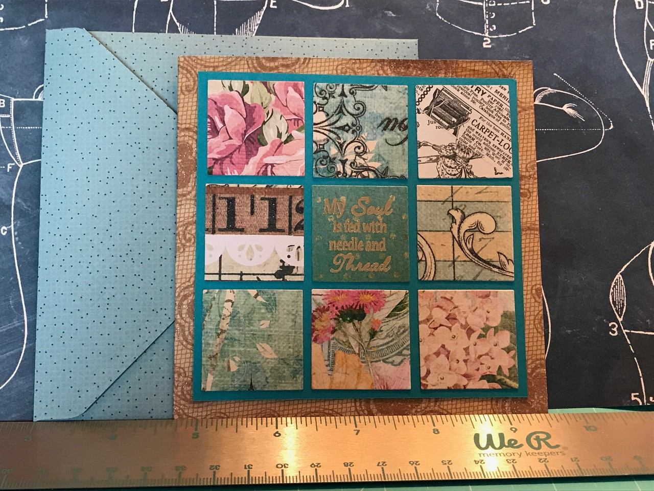 Another card for quilt retreat gift