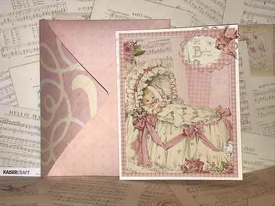 Front of baby girl card
