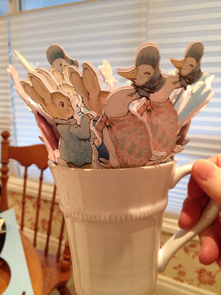 Peter Rabbit & Jemima Puddleduck cupcake toppers