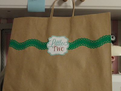 Gift bag for one of the twins