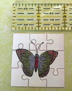 Mini butterfly die-cut puzzle