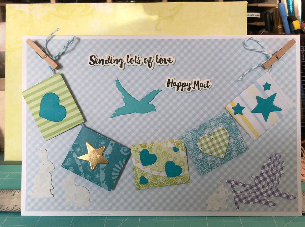 Another card for Teddy, who loves mail!