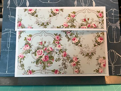 Box for sewing cards and tags made on Silhouette Cameo